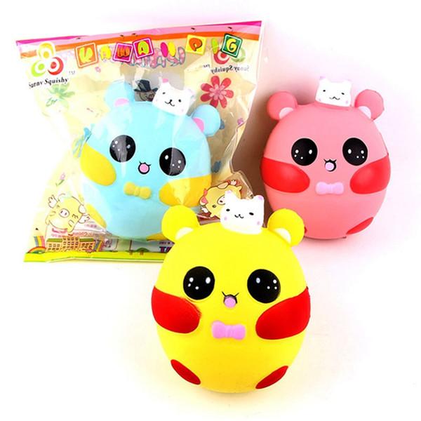 Novo 10 pçs / lote Jumbo Moda Coelho Porco Squishy Brinquedo Crianças Presente de Aniversário Gags Joke Toy Squeeze Lento Rising Escritório Stress Relief Brinquedos