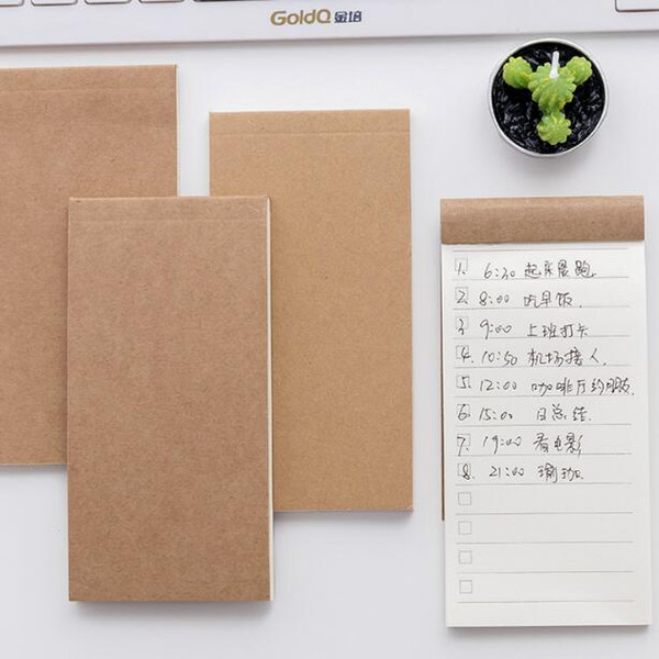 plan notepads korean stationery kraft cover portable schedule notes diary jounal notepads school office supplies gifts