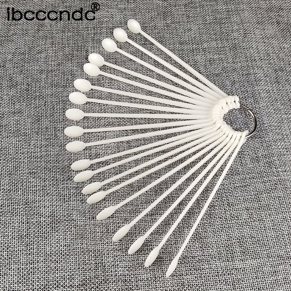 Spoon Shape Nail Gel Color Card 50pcs False Nail Tips Stick Gel Polish Display Fan Practice Swatches Manicure Tools for Art
