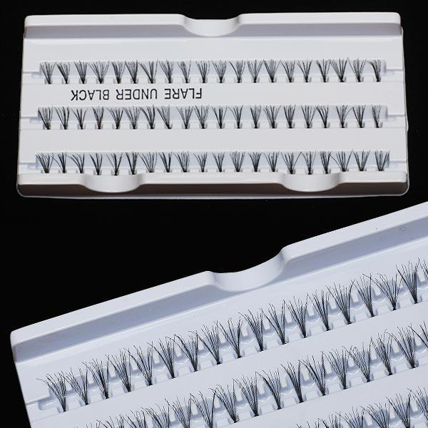 Wholesale - Free Shipping New 60 Individual Black Fake Eyelash Cluster Eye Lashes Extension Tray Make