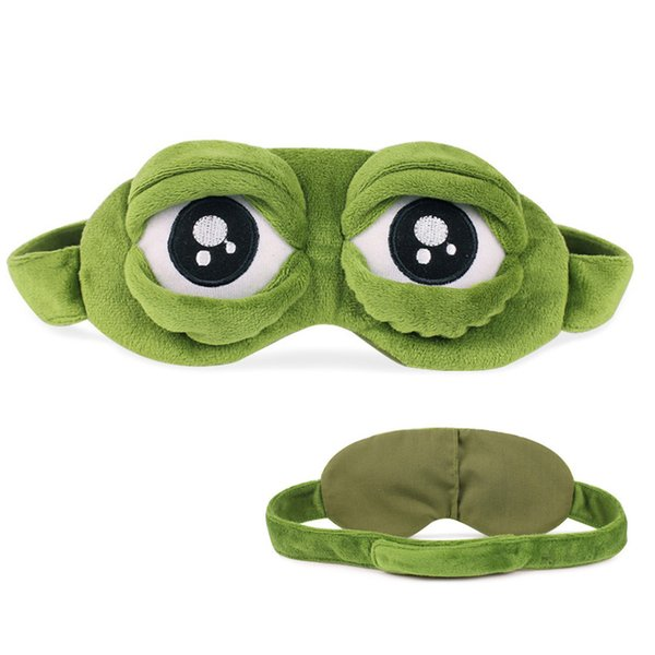 Sad Rana 3D Eye Mask Cartoon Cute Sleeping Mask Occhi Coprire Dormire Anime Regalo divertente Assistenza sanitaria Eyeshade