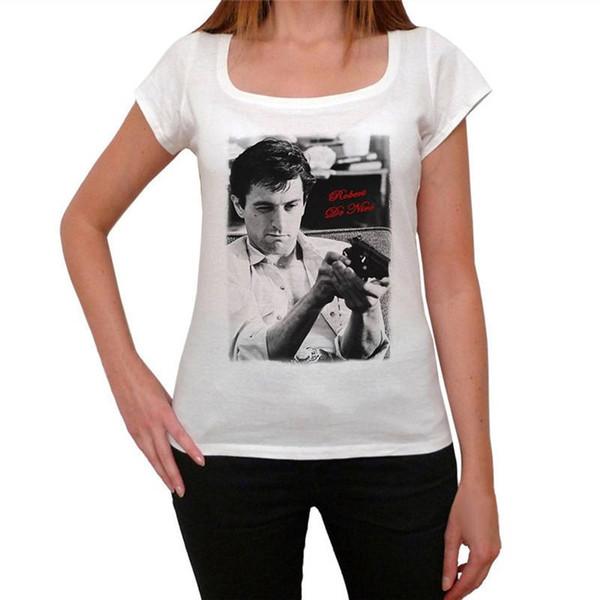 Beste T-Stücke Kurzhülse Frauen Robert De Niro O-Hals T-Shirts
