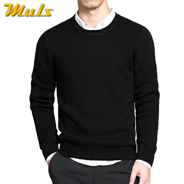 Sweaters men pullover brand  men sweater hombre clothing cotton spring dress thin O-neck knitwear solid Black Navy Gray