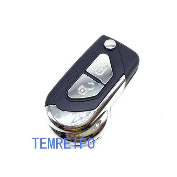 2 buttons entry keyless key shell for peugeot 107 207 307 408 407 flip remote control key case fob for citroen