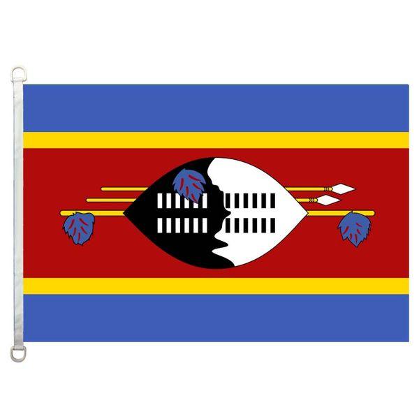 Флаг Свазиленда,90*150см ,100% полиэстер, баннер,цифровая печать