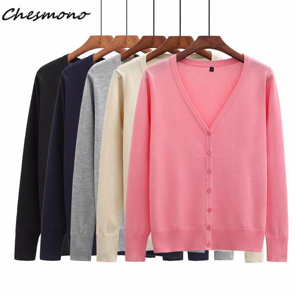 5color Women Slim Long Sleeve V Neck Coat Cardigan Knitwear Casual Crochet Sweater Solid Color Fashion Knit Sweater Outwear Coat