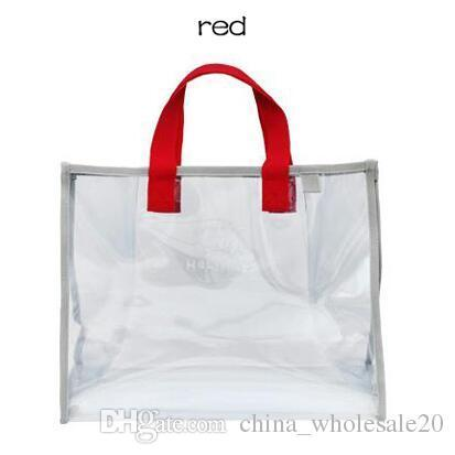 Free shipping Transparent PVC Hand Carry Swimming Bag Portable Clothing Package Package Fashion Beach Bag Travel Bag