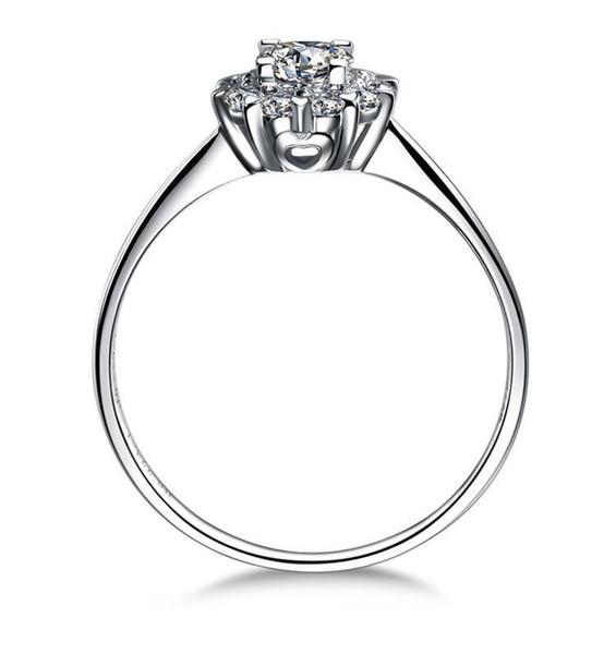 100% 925 silversterling silver 14k white gold Plated 1ct Princess Cut SONA Simulated Diamond Engagement rings for women,fine Silver