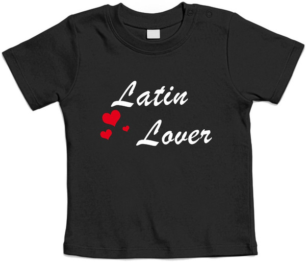 Casual T Shirt Male Pattern LATIN LOVER - Baby T shirt - Idea bambino Brand Clothing Hip-Hop Top