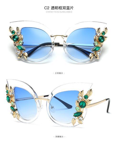 1pcs High Quality Elegant Sunglasses Designer Luxury Rhinestone Diamonds Womens ladies Fashion Sun Glasses Eyewear Glass Lenses NEW Hot Sale