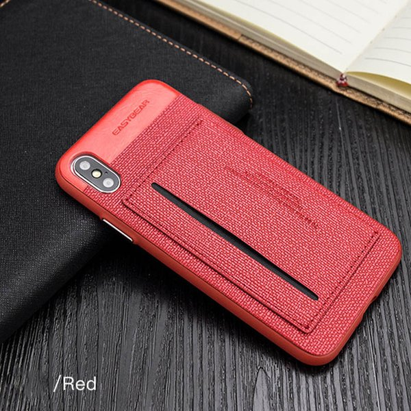 For iPhone7 8 plus Card Slot phone cover cases with Kickstand PC TPU two in one paste leather skin for iphone 8 plus