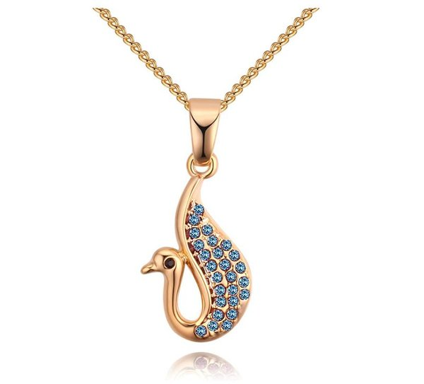 Thousand-color classic swan pendant Europe and the United States cross-border fashion imported crystal necklace retro diamond jewelry jewelr