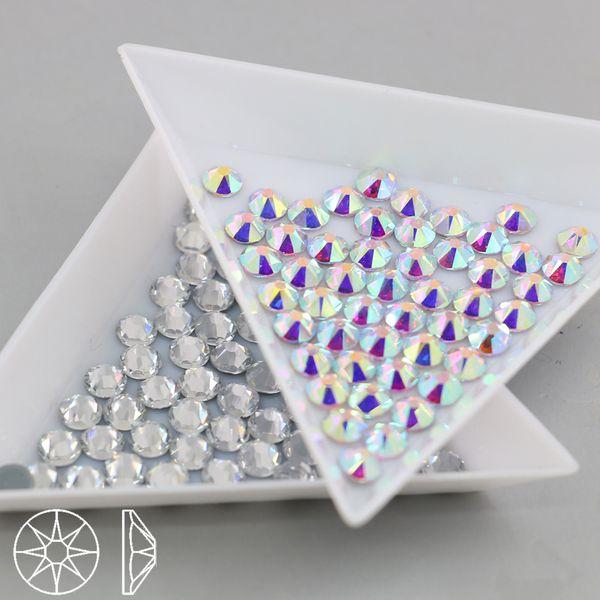 best selling Top Quality HOTFIX Rhinestone 2088# Crystal AB Flatback 16 Cut Facets Round Rhinestone SS10-SS40(Crystal Aurore Boreale)