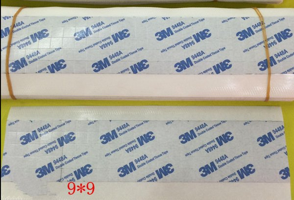 Fast Free Ship 100pcs/lot 9*9mm 3M 9448A Double Sided Coated Tissue Tape For Cooling Fin Heat sink Radiator