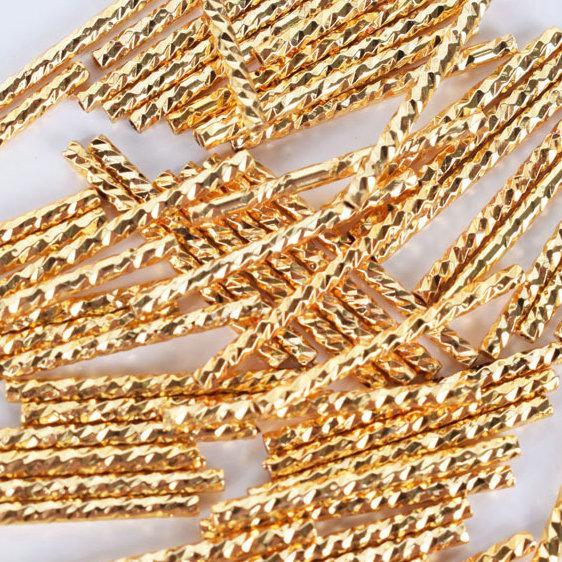100pcs/lot Tube Beads Spacer curve Bent Tubing Bracelet Materia pipe decorative Moon connector Bangle necklace pendants components
