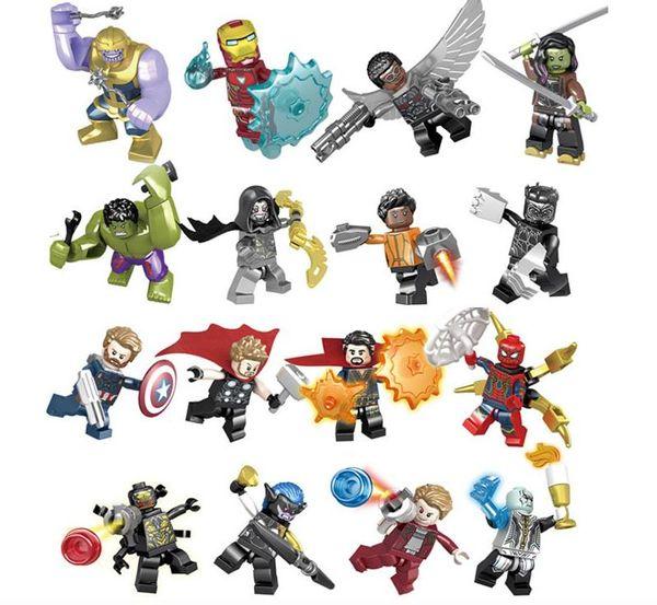 Marvel building blocks Sets Avengers Infinity War Mini Super Hero Superhero Thor Hulk Captain America Figures Building Blocks Toys