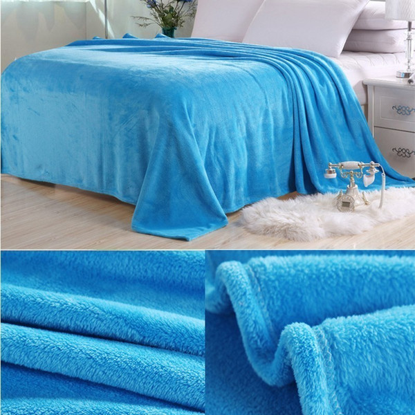 New Arrival Bed Blanket Soft Warm Bedding Sheet Elegant Solid Fleece Flannel Bedspread Sofa Air Couch Condition Throw Blanket