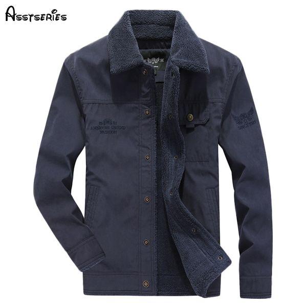 2018 brand autumn and winter men's cotton coats fashion mens winter wool jackets outwear warm coats d130