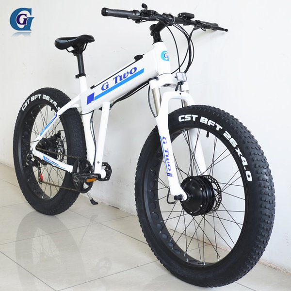 Compre Doble Impulsión 26 Pulgadas De La Bicicleta Eléctrica, Motor ...