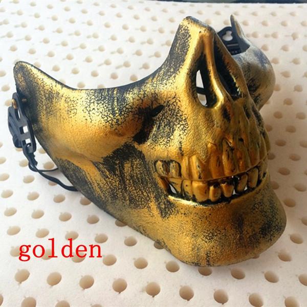 Máscaras de calaveras Diversión Paintball PVC Airsoft Scary Skeleton Mask Protector CS Juegos Fiesta de Halloween Carnaval al aire libre shippiing libre