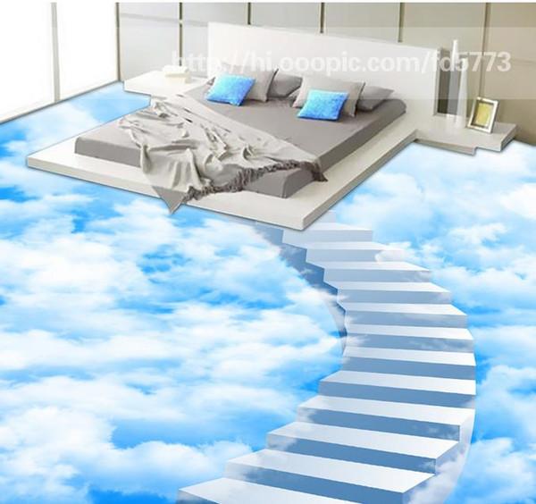 Großhandel 3D Bodenbelag Für Wohnzimmer Und Schlafzimmer Kreative Wolken  Schrittleiter Bad Badezimmer Schlafzimmer 3D Boden Von Yyyy2015, $50.26 Auf  ...