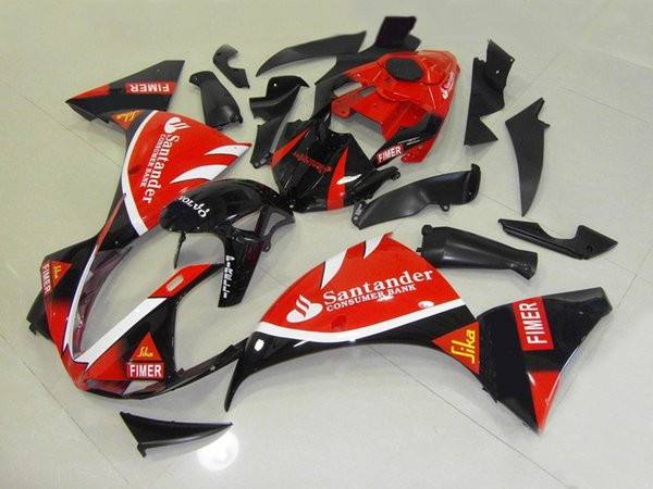 Motorcycle Fairing kit for YAMAHA YZFR1 09 10 11 YZF R1 2009 2010 2011 YZF1000 ABS Top red black Fairings set+7gifts YW08