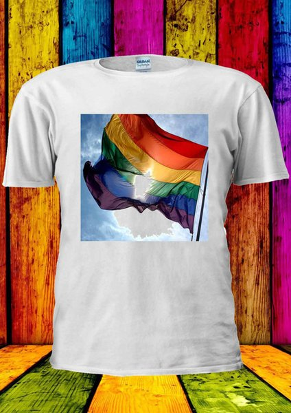 Rainbow Flag LGBT Gay Lesbian Proud T-shirt Vest Tank Top Men Women Unisex 157 Funny free shipping Unisex Casual tee gift
