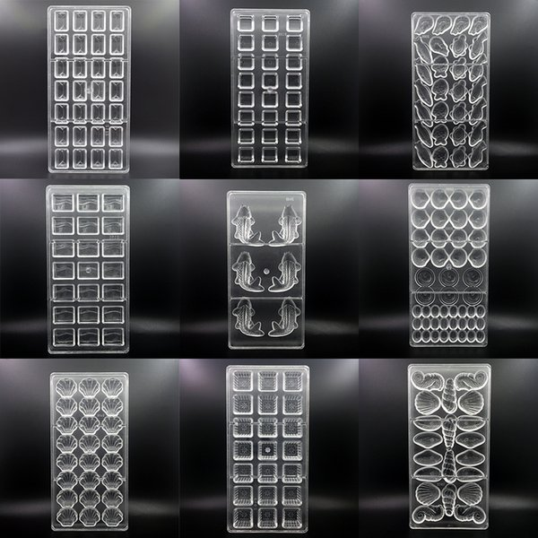 144 Styles 3D Stampi per cioccolato in policarbonato Vassoio per Natale Prodotti da forno per pasticceria Strumenti per pasticceria Forma di cioccolato Stampi per pasticceria