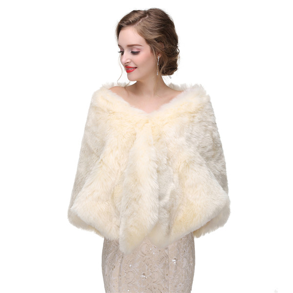 CMS09 Bridal fur stole Vintage stole faux fur Winter Wedding Coat bridal shawl wrap fur, bridal stole, wedding stole, faux fur cape