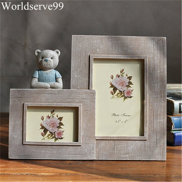Doppelrahmen Cute Bear Resin Baby Bilderrahmen Wohnkultur Foto Bridal Shower Wedding Favor Geschenke