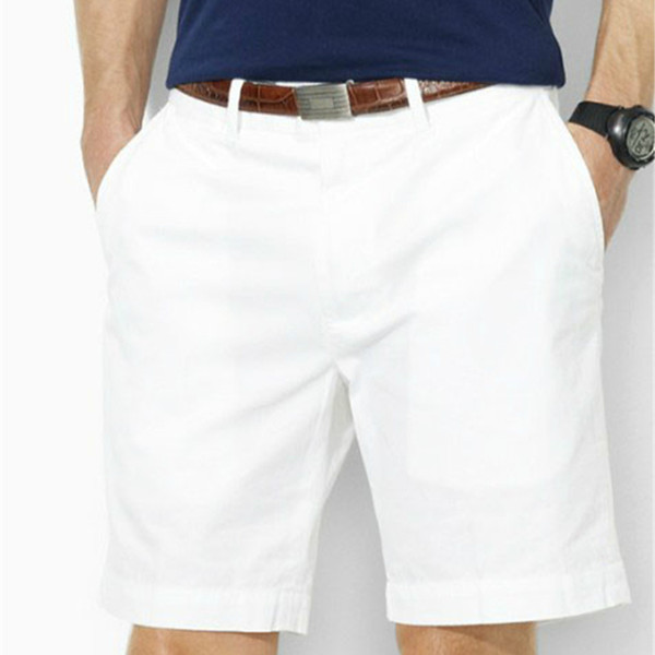 top popular Drop shipping 2018 New summer claasic half shorts Men casual board shorts 100% cotton 7 colors Size M-XXXL 2019