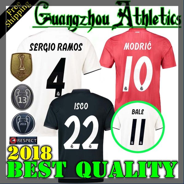 brand new f9ed7 0fbee 2019 2018 Real Madrid Home Away 3rd Soccer Jersey 18 19 Real Madrid RONALDO  BENZEMA BALE SERGIO RAMOS MORATA ISCO NAVAS ASENSIO Jerseys From ...