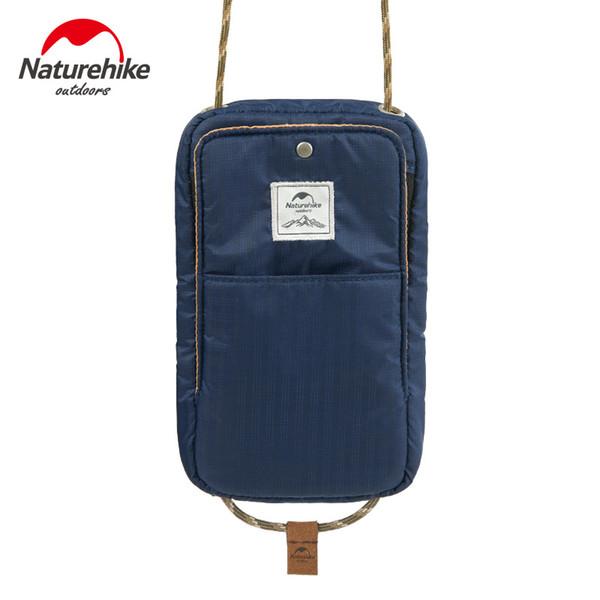 Naturehike 200D Nylon wasserdichte Reisebrieftasche Tasche Multi Funktion Outdoor Sports Lauftasche für Cash-Passport-Karten-Geldbeutel