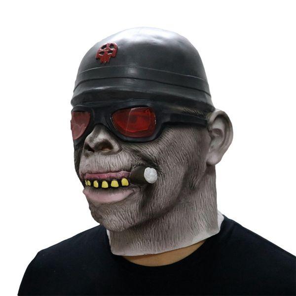 Gorilla Monkey Smoking Halloween Mask Horrible Latex Nun Venom Mask Melting Face Costume Halloween Masquerade Freeshipping #FO03