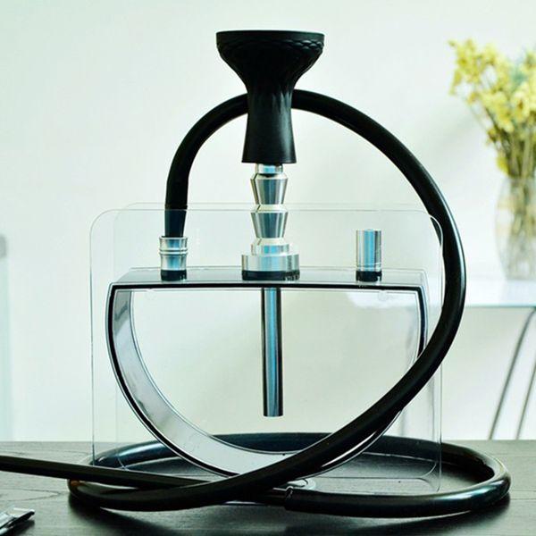 Wasserpfeife Shisha Pfeife Acryl Halbkreisförmige Form Innovatives Design Silikonwabenschüssel Luxuriöser Dekorationsgenuss Dhl-frei