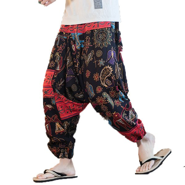 look out for aesthetic appearance stylish design 2019 2018 Men Cross Pants Low Rise Lantern Pants Mens Ultralarge Print  Harem Hiphop Jogger Linen Trousers Male Punk Streetwear From Guocloth,  $32.92 | ...