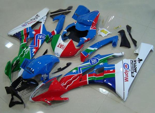 4Gifts Nuevo Carenados Carrocería Para YAMAHA YZF600 YZFR6 06 07 YZF-R600 YZF 06-07 YZF 600 YZF-R6 YZF R6 2006 2007 ABS carenado conjunto