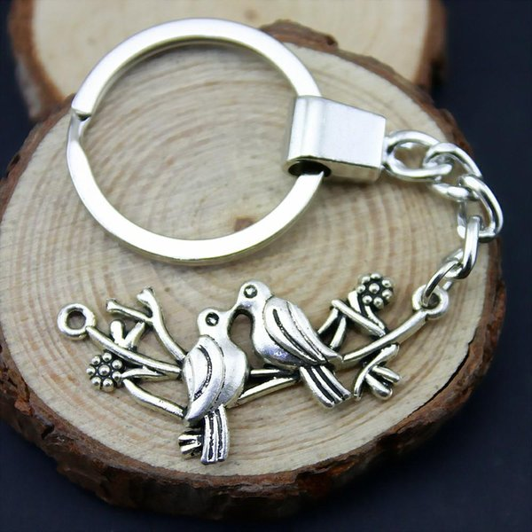 6 Pieces Key Chain Women Key Rings For Car Keychains With Charms Birds 45x20mm