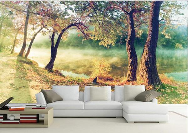 3D Wallpaper Malerei Woods Landschaft Tapete Für Wohnzimmer Schlafzimmer  Desktop Wandbild Home Decor