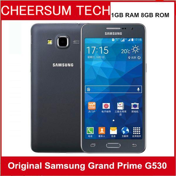 Original Samsung Galaxy Grande G530H G530F G531F Ouad Núcleo Dual Sim Desbloqueado Celular 5.0 Polegada Tela de Toque remodelado celular