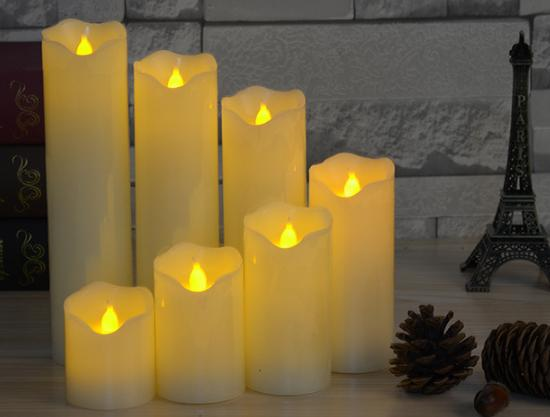 5*10cmLed Electronic Simulation Candle Light Wave Oblique Mouth Candle Lamp For Wedding Beauty Club Home Decoration