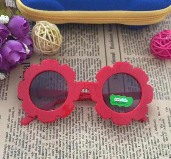 Hot Sale Fashion 2018 NEW Arrival Sun Flower Shape Round Cute Kids Sunglasses UV400 Boy&girl Lovely Baby Glasses