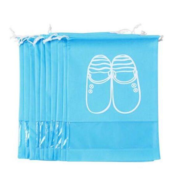 10 sacs de chaussures de voyage emballés avec des sacs de stockage de chaussures non-tissés épais de haute qualité peuvent stocker une variété de chaussures.