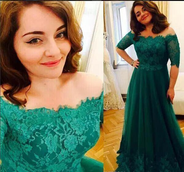 3521e2b80a0 2018 Elegant Emerald Green Mother of the Bride Dresses Formal Godmother Women  Wear Evening Wedding Party