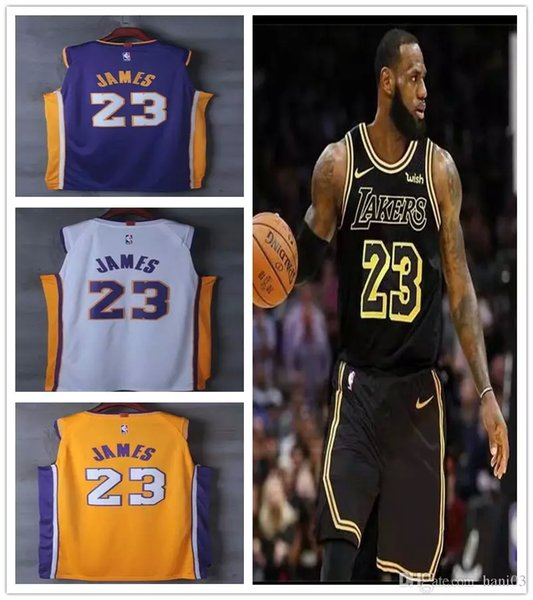 detailed look 8fe65 3864b 2018 23 James Lal Jersey 2019 Los Angeles Lakers Lebron James New Season  Jerseys Black City Basketball Lbj Jerseys Gold Yellow White Purple From  Jwhu, ...