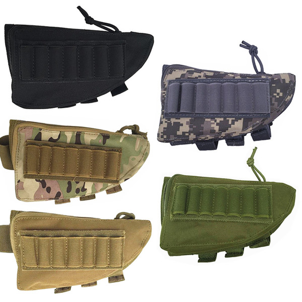 top popular FIRECLUB Tactical Buttstock Shot gun Rifle Stock Ammo Portable Pouch Shell Cartridge Holder Pouch Holder Cheek Leather Pad 2021