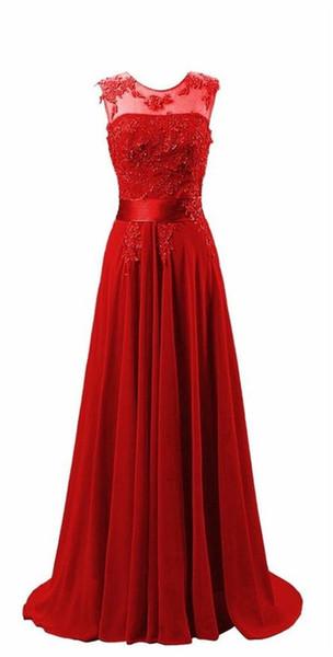 Eren Jossie A-Line Style Chiffon Evening Elegant Dress With Appliques 2018 Collection Corset Back Banquet Gown