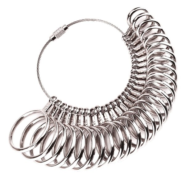 Metal Ring Sizer Finger Guage Sizing Measuring Jewelry Tool Size 0-13 27 Piece