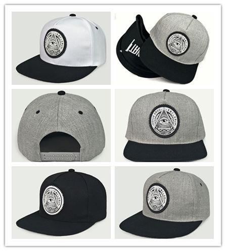 Good Quality Giraffita 5 panels cotton snapback 3d god eyes plastic patch mens flat brim baseball cap hip hop hat and cap for men and women