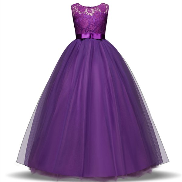 16700ee4f46 Teenage Girl Dresses Long Formal Prom Gown for Kids Girls Clothing Wedding  Party Tutu Dress Christmas